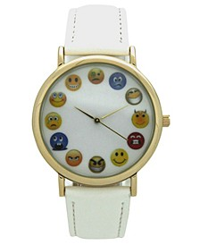 Emoji Leather Strap Watch