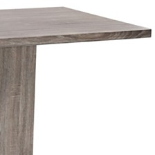 Zenith Contemporary Dining table:  With Brushed Stainless Steel Base And Gray Walnut Veneer Finish
