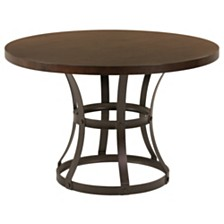 Saugus Contemporary Dining table:  In Auburn Bay Finish With Sedona Wood Top