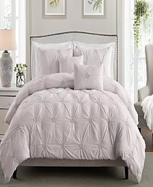 Floral Pintuck Full/Queen Comforter Set