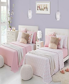 Rampage Mix Match Solid and Print Double Queen Sheet Sets