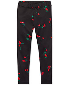 Polo Ralph Lauren Little Girls Cherry-Print Jersey Leggings