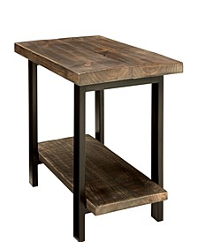 Pomona Metal and Reclaimed Wood End Table