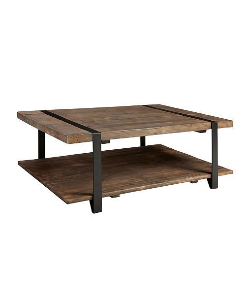 """Alaterre Furniture Modesto 48""""L  Reclaimed Wood Coffee Table"""