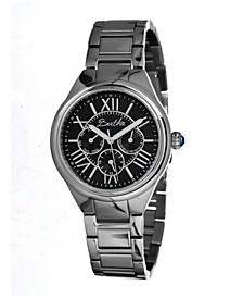 Quartz Rachel Collection Silver And Black Stainless Steel Watch 40Mm