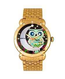 Bertha Quartz Ashley Collection Gold Stainless Steel Watch 38Mm