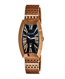 Bertha Quartz Laura Collection Rose Gold And Black Stainless Steel Watch 31Mm
