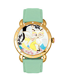 Bertha Quartz Vivica Collection Gold And Mint Leather Watch 38Mm