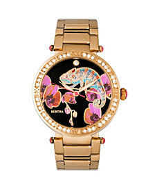 Bertha Quartz Camilla Collection Gold Stainless Steel Watch 38Mm