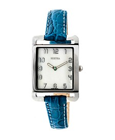 Quartz Marisol Collection Blue Leather Watch 21Mm
