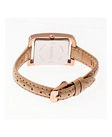 Bertha Quartz Marisol Collection Cream Leather Watch 21Mm