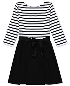 Polo Ralph Lauren Big Girls Striped Jersey-Ponté Dress