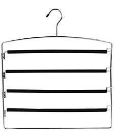 Sunbeam 4 Tier Swinging Arm Steel Pants Hanger with Soft Grip Foam Coated Rods