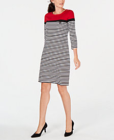 Karen Scott 3/4-Sleeve Lola Dress, Created for Macy's