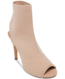 Madden Girl Randy Knit Peep-Toe Booties