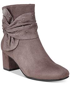Impo Judith Embellished Block-Heel Booties