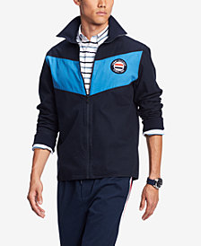 Tommy Hilfiger Men's Connery Mock-Neck Colorblocked Jacket, Created for Macy's