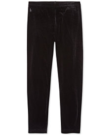 Polo Ralph Lauren Big Girls Stretch Velvet Leggings