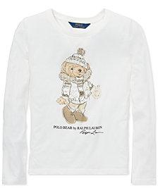 Polo Ralph Lauren Big Girls Holiday Bear Long-Sleeve Cotton T-Shirt