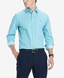 Tommy Hilfiger Men's Broome Custom-Fit Stretch Twill Shirt