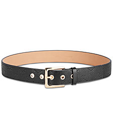 MICHAEL Michael Kors Deco Quilted Leather Belt