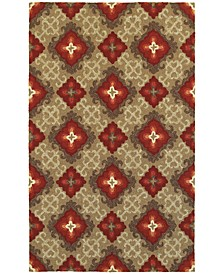 Home  Atrium Indoor/Outdoor 51109 Brown/Red Area Rug