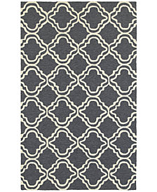 Tommy Bahama Home  Atrium Indoor/Outdoor 51110 Gray/Ivory 5' x 8' Area Rug