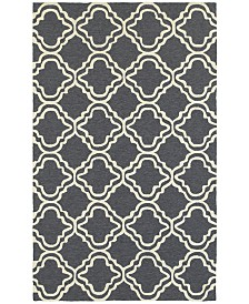 CLOSEOUT! Tommy Bahama Home   Atrium Indoor/Outdoor 51110 Gray/Ivory 5' x 8' Area Rug