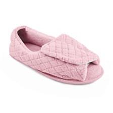 Muk Luks® Micro Chenille Open Toe Slippers
