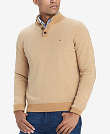 Tommy Hilfiger Men's Bridge Mock-Collar Sweater, Created for Macy's