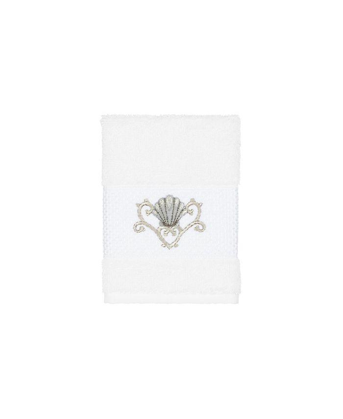 Linum Home - Bella Embroidered Turkish Cotton Washcloth