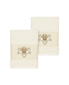Bella 2-Pc. Embroidered Turkish Cotton Washcloth Set