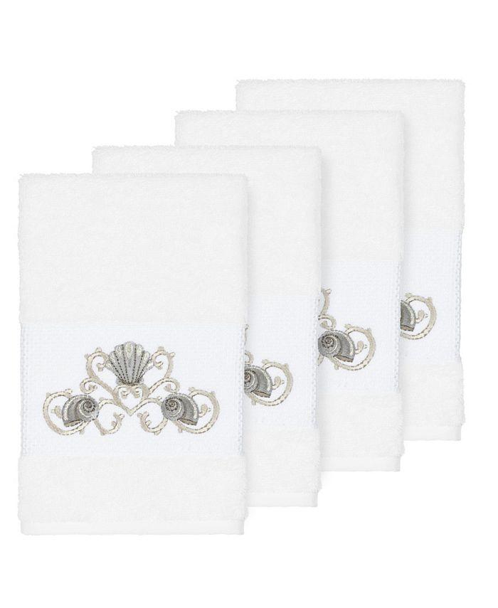 Linum Home - Bella 4-Pc. Embroidered Turkish Cotton Hand Towel Set