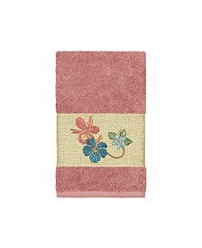 Caroline Embroidered Turkish Cotton Hand Towel
