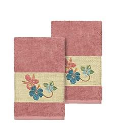 Caroline 2-Pc. Embroidered Turkish Cotton Hand Towel Set