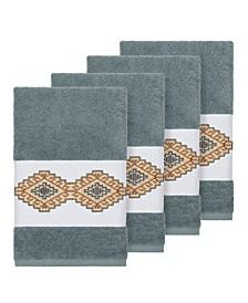 Gianna 4-Pc. Embroidered Turkish Cotton Hand Towel Set