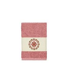 Isabelle Embroidered Turkish Cotton Washcloth