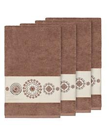 Linum Home Isabelle 4-Pc. Embroidered Turkish Cotton Bath Towel Set