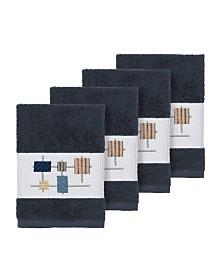 Linum Home Khloe 4-Pc. Embroidered Turkish Cotton Washcloth Set