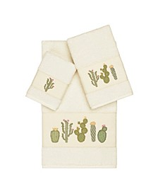 Mila 3-Pc. Embroidered Turkish Cotton Towel Set
