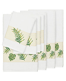 Linum Home Zoe 8-Pc. Embroidered Turkish Cotton Bath and Hand Towel Set