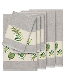 Zoe 8-Pc. Embroidered Turkish Cotton Bath and Hand Towel Set