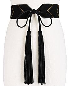 MICHAEL Michael Kors Deco Glam Suede Tassel Waist Belt