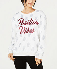 Love Tribe Juniors' Printed Graphic Sweatshirt