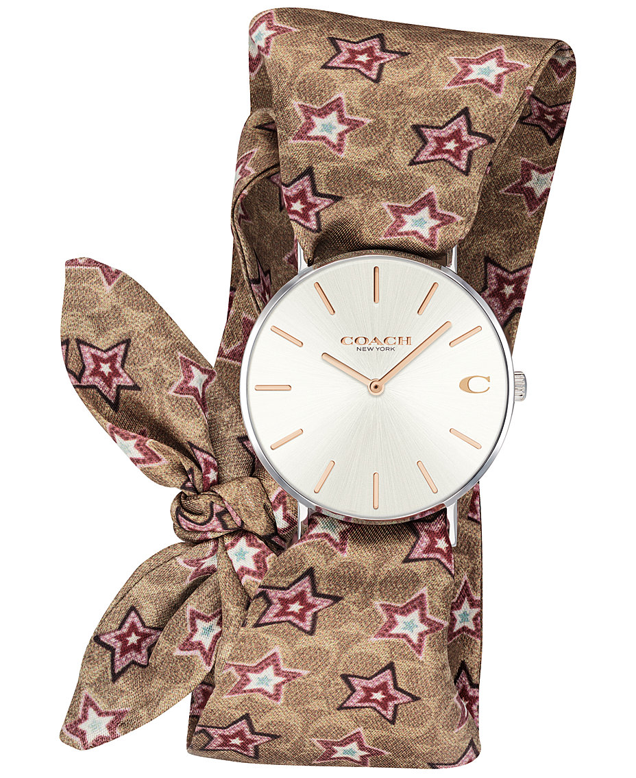 Women s Perry Signature C Satin Scarf Wrap Strap Watch 36mm Created for  Macy s 95354f5b9e324