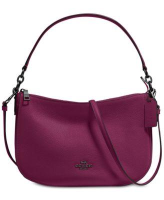 coach chelsea crossbody in pebble leather handbags accessories rh macys com