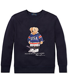 Polo Ralph Lauren Big Boys Hockey Bear Fleece Sweatshirt