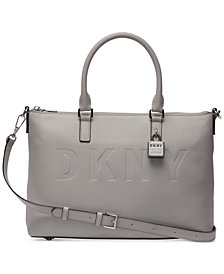 DKNY Commuter Leather Top Zip Satchel, Created for Macy's