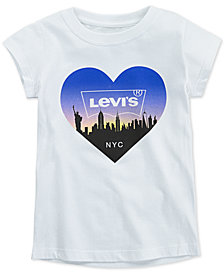 Levi's® Little Girls NYC Skyline Cotton T-Shirt