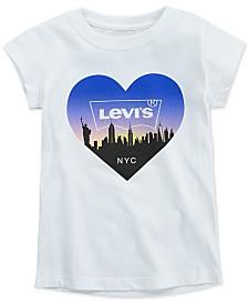 Levi's® Toddler Girls NYC Skyline Cotton T-Shirt